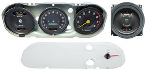 1966 Gauge Cluster Assembly, Premium GTO Rally Gauge