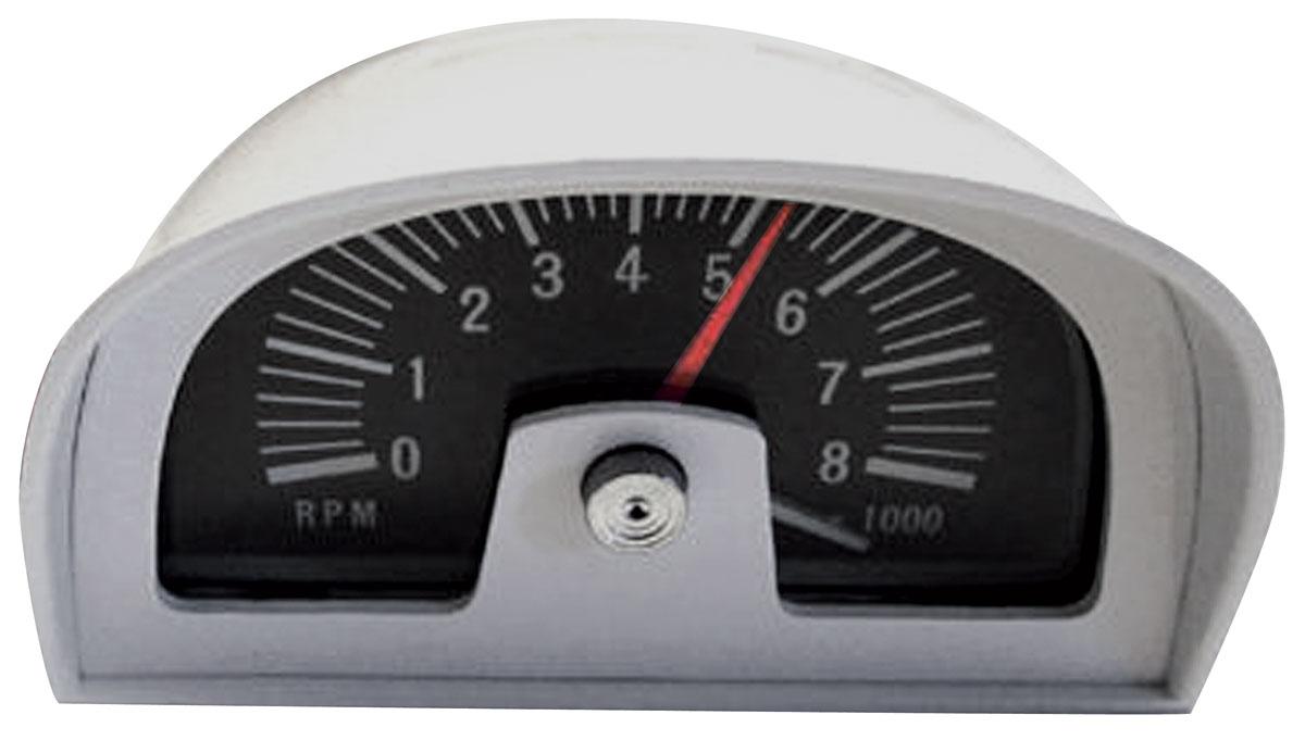 1964-73 GTO Hood Tachometer Dixco Style, 8000 Rpm @ OPGI.com