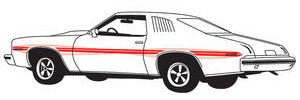 1973-1974 LeMans Body Stripe Kit, 1973-74 LeMans GT, by Phoenix Graphix