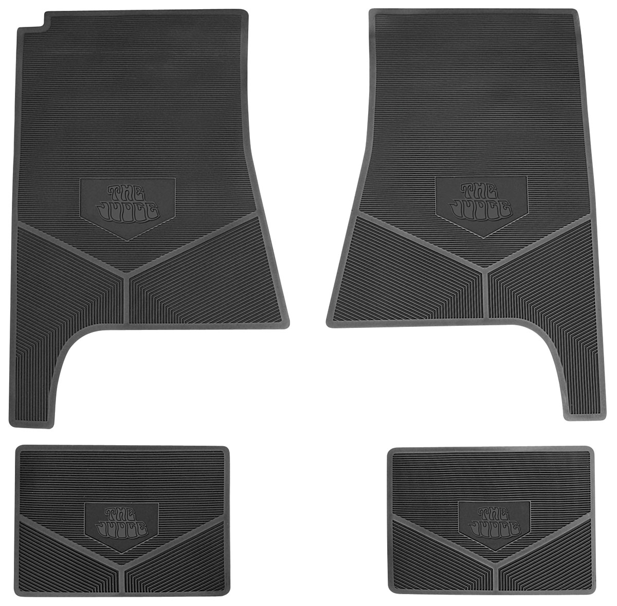 1969 71 Gto Floor Mats Rubber Logo The Judge By