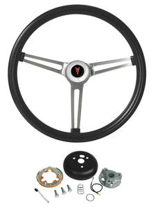 1969-77 Bonneville Steering Wheel, Classic Pontiac Exc. Telescope, by Grant