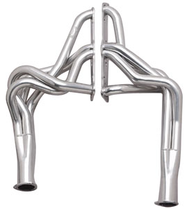 "1968-1973 LeMans Headers, Super Competition 400-455 Ho/Sd W/O Ac, Floorshift, Round Heads (2"" X 28"", 3-1/2"" Collector) Ceramic Coated, by Hooker"