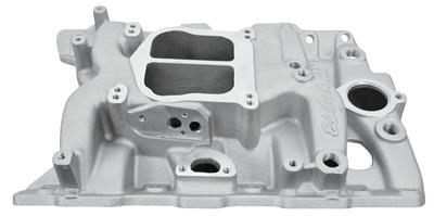 1965-77 Grand Prix Intake Manifold, Performer Pontiac Satin, Non-EGR