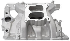 1965-1973 LeMans Intake Manifold, Performer RPM Satin, Non-EGR, by Edelbrock