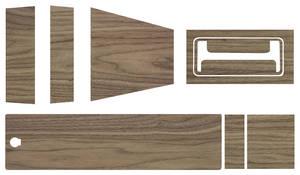 1965-66 Console Inserts, Wood Grain Grand Prix and Bonneville Manual (3-Piece)