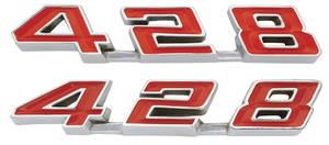 "1967 Grand Prix Rocker Panel Emblems, ""428"""