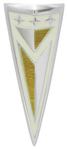 1962-1962 Bonneville Header Panel Emblem, 1962 Pontiac (Arrowhead)