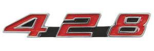 """Bonneville Console Emblem, 1967-68 """"428"""""""