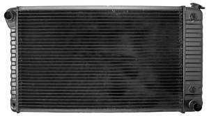 "1961-64 Grand Prix Radiator, Original Style 17-3/8"" X 24-3/4"" X 2"" Core; 2-3/8"" Mounts MT, V8, by U.S. Radiator"