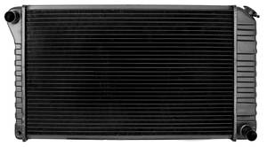 "1965-1967 Bonneville Radiator, Desert Cooler 4-Row 26-1/4"" X 17"" X 2-5/8"" Core, 3-1/2"" Mounts AT, V8"