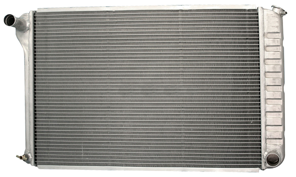 "Photo of Radiator, Aluminum Desert Cooler 17-1/4 X 25-1/2 X 2-5/8"", 3"" Mount MT, polished"