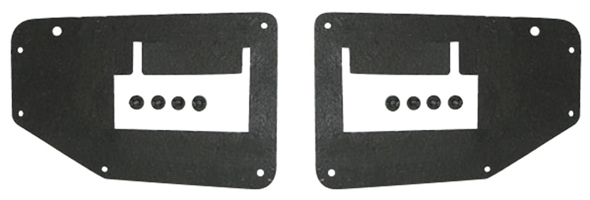 Photo of Radiator Seal Bonneville/Catalina, radiator to frame seals w/clips (2-piece)