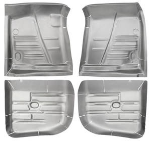 Floor Pan, Steel (1961-64 Bonneville, Catalina & Grand Prix) Complete Kit, 4-Piece