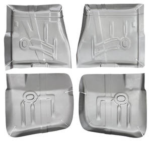 Floor Pan, Steel (1965-70 Bonneville & Catalina) Complete Kit, 4-Piece