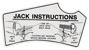 1963 Catalina Jacking Instruction Decal
