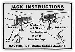 1964 Bonneville Jacking Instruction Decal