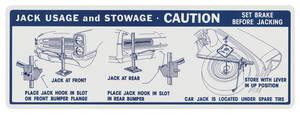 1966-1966 Bonneville Jacking Instruction Decal Convertible
