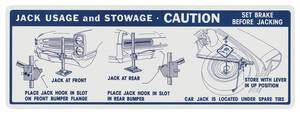 1966 Catalina/Full Size Jacking Instruction Decal Convertible