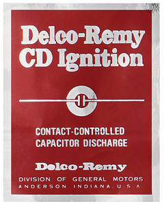 1967 Catalina Ignition Control Decal Transistor Ignition Amplifier