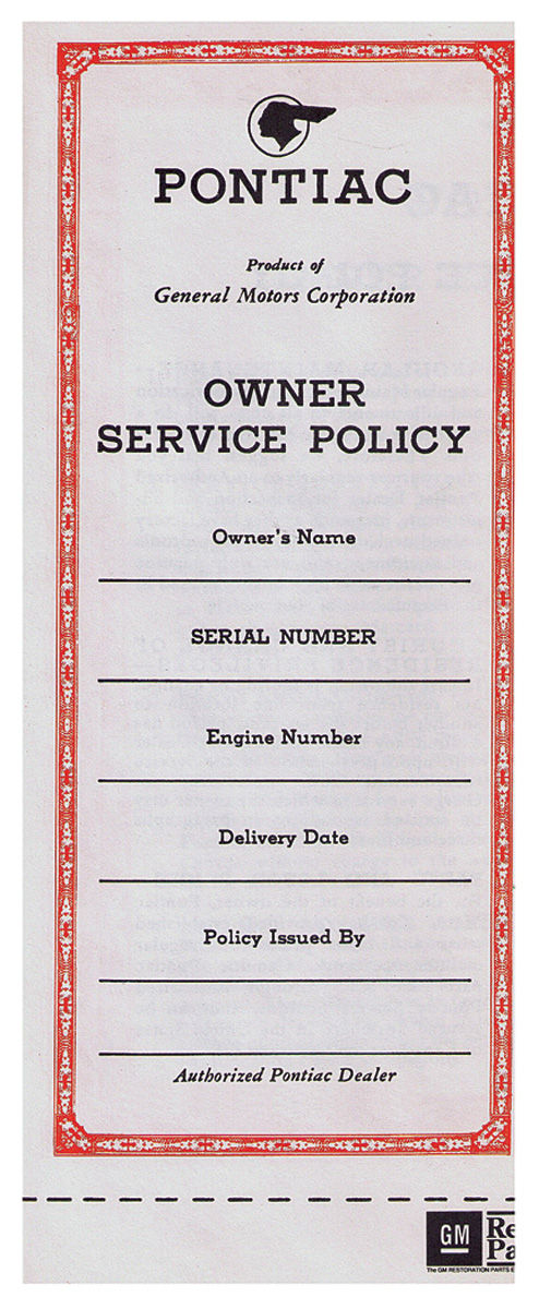 Photo of Vehicle Service Policy