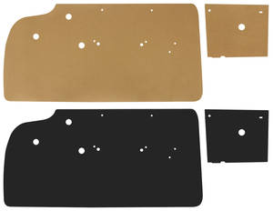 1959-60 Grand Prix Door Panel Water Shields Convertible