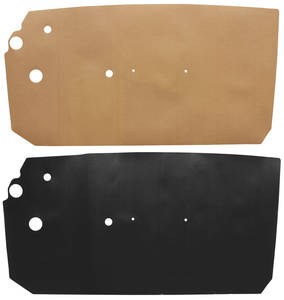 1961-62 Catalina Door Panel Water Shields 2-dr. Hardtop