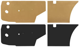 1965-68 Bonneville Door Panel Water Shields 2-dr. Hardtop