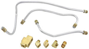 1959-60 Bonneville Fuel Line Kits, Tri-Power Three 90-Degree Fittings