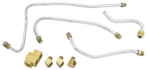 1961-63 Bonneville Fuel Line Kits, Tri-Power Fuel Block, 90-Degree & Two 105-Degree Fittings