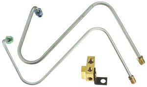 1966-1966 Bonneville Brake Line Kit, Master Cylinder-To-Distribution Block Power