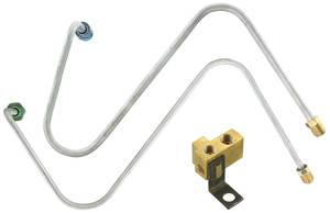 1966-1966 Catalina Brake Line Kit, Master Cylinder-To-Distribution Block Manual