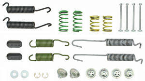 1963-1964 Grand Prix Brake Hardware Kits (Drum) Grand Prix Front, by Kanter