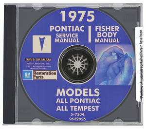 1975 Bonneville Factory Shop Manuals, CD-ROM Service & Body