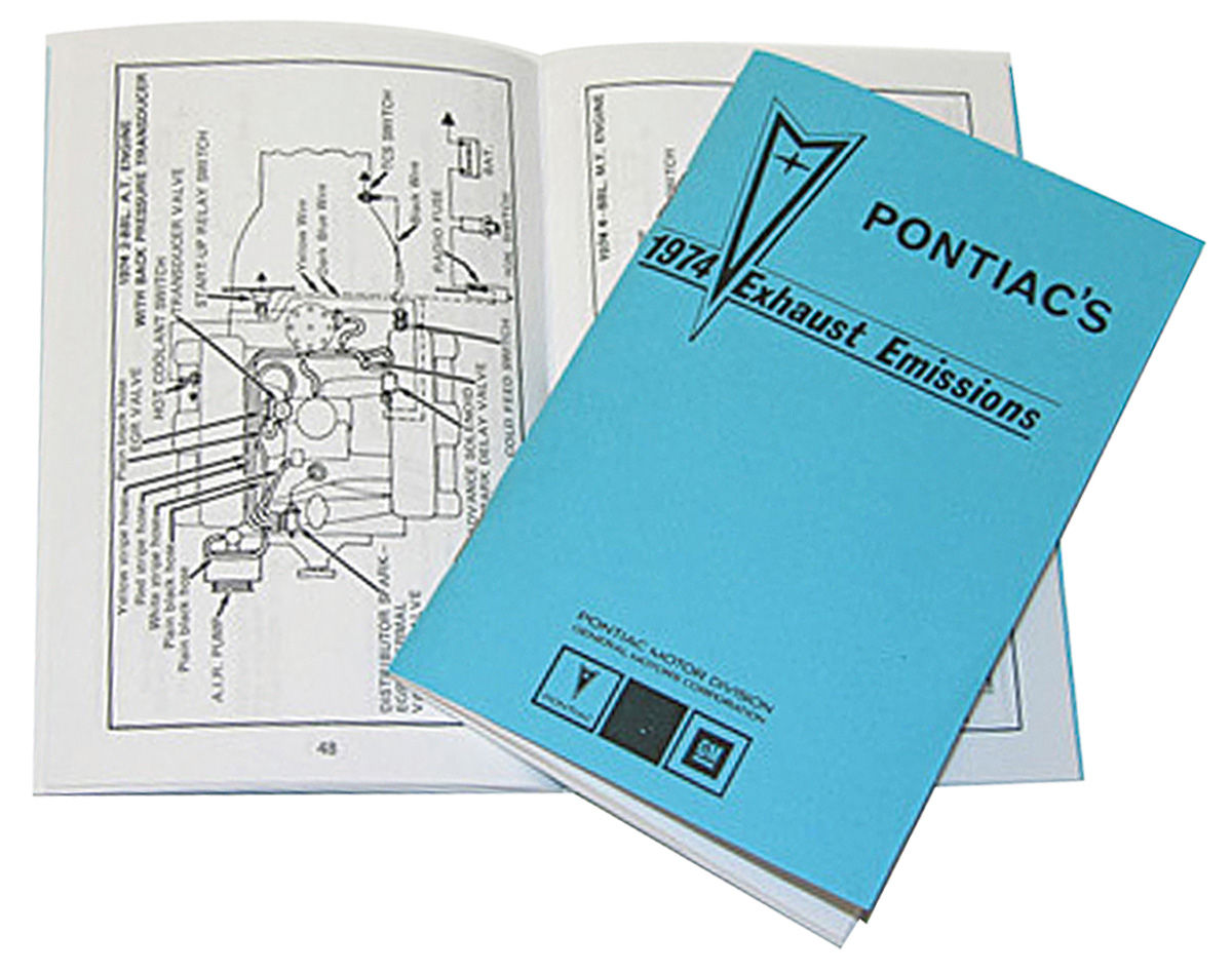 Photo of Pontiac Emissions Booklet, 1974