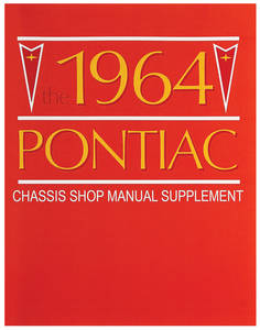 Bonneville Chassis Service Manuals Supplement To 1963