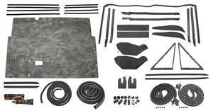 1968-1968 Tempest Stage II Convertible Weatherstrip Kit GTO/Tempest/LeMans