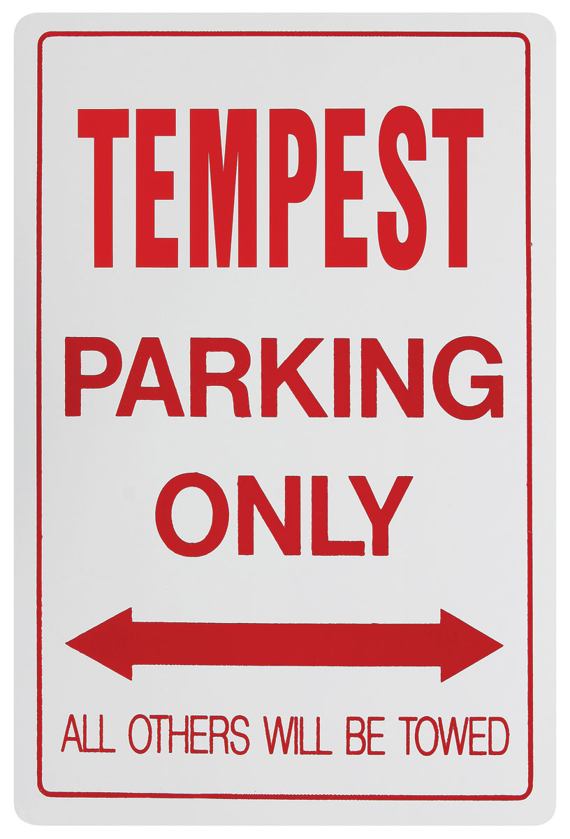 Photo of Parking Only Sign, Aluminum Tempest