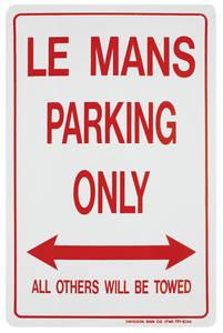 Parking Only Sign, Aluminum LeMans