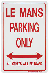 Parking Only Sign, Aluminum LeMans