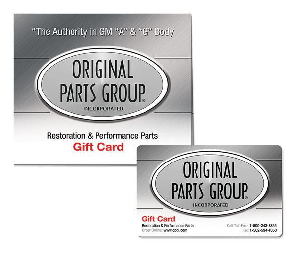 Photo of Original Parts Group Gift Card