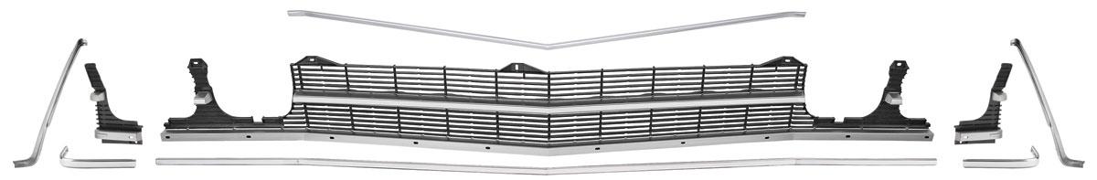 Photo of Grille Kit, 1969 Chevelle & El Camino Non-Ss w/o center molding, w/o headlight bezels
