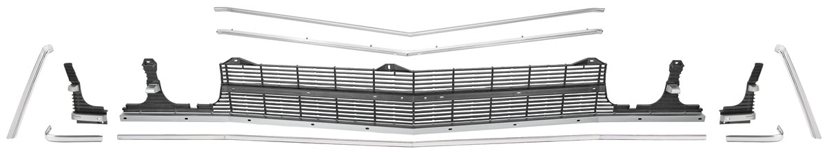 Photo of Grille Kit, 1969 Chevelle & El Camino Ss w/center molding, w/o headlight bezels