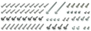 1964-1965 Chevelle Interior Screw Kit, Chevelle Convertible w/Buckets, 76-Piece