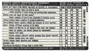 1971-1971 Grand Prix Vehicle Safety Maintenance Decal Grand Prix
