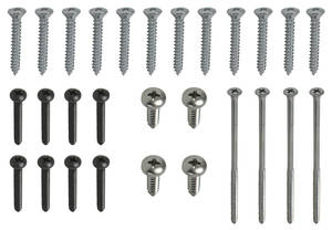 1962-1962 Grand Prix Exterior Screw Kits All, 16-Piece