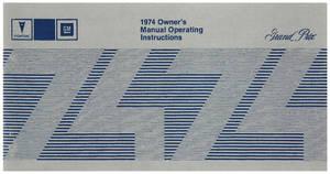 1974 Owners Manuals, Pontiac Grand Prix