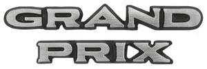 """1970-1970 Grand Prix Pillar Post Emblem, """"Grand Prix"""" Block"""