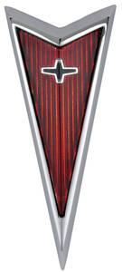 1971-1972 Grand Prix Header Panel Emblem, 1971-72 Grand Prix (Arrowhead)