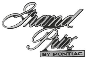 "Header Panel Emblem, 1977 ""Grand Prix By Pontiac"" (Script)"