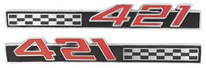 "1966-1966 Bonneville Fender Emblem, 1966 ""421"""